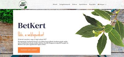weblapkészítés - betkert.hu